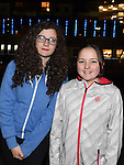Orla and Andrea Murray pictured at the fireworks display at Scotch Hall sponsored by Funtasia. Photo:Colin Bell/pressphotos.ie
