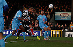 Grimsby Town 1 Lincoln City 3, 28/12/2014. Blundell Park, Football Conference. Grimsby Town's Craig Disley scores the first goal of the game.  Photo by Paul Thompson.