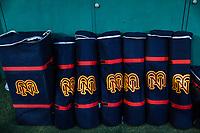 Detalle de bolsa y utileria con logotipo de los Mayos de Navojoa N M, durante juego de beisbol de la Liga Mexicana del Pacifico temporada 2017 2018. Tercer juego de la serie de playoffs entre Mayos de Navojoa vs Naranjeros. 04Enero2018. (Foto: Luis Gutierrez /NortePhoto.com)