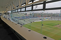 View from the media centre during Warwickshire CCC vs Essex CCC, Specsavers County Championship Division 1 Cricket at Edgbaston Stadium on 10th September 2019