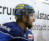 28th September 2017, Saturn Arena, Ingolstadt, Germany; German Hockey League,  ERC Ingolstadt versus Eisbaren Berlin; Jacob BERGLUND (Ingolstadt/SWE), sits in the sin-bin during a penalty