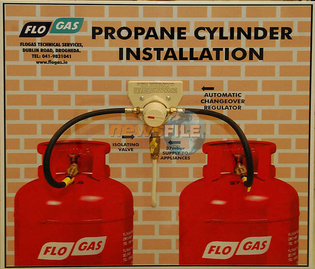 Propane Cylinder Installation.Flo Gas..Photo Fran Caffrey Newsfile.ie..This Picture has been sent to you by Newsfile Ltd..The Studio,.Millmount Abbey,.Drogheda,.Co. Meath,.Ireland..Tel: +353(0)41-9871240.Fax: +353(0)41-9871260.ISDN: +353(0)41-9871010.www.newsfile.ie..general email: pictures@newsfile.ie