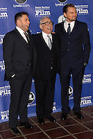 SANTA BARBARA, CA - FEBRUARY 06: Jonah Hill, Martin Scorsese, Leonardo DiCaprio at the 29th Santa Barbara International Film Festival - Honoring Martin Scorsese And Leonardo DiCaprio With The Cinema Vanguard Award held at Arlington Theatre on February 6, 2014 in Santa Barbara, California. (Photo by Xavier Collin/Celebrity Monitor)