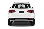 Straight rear view of 2020 Mercedes Benz GLC-Class GLC300 5 Door SUV Rear View  stock images