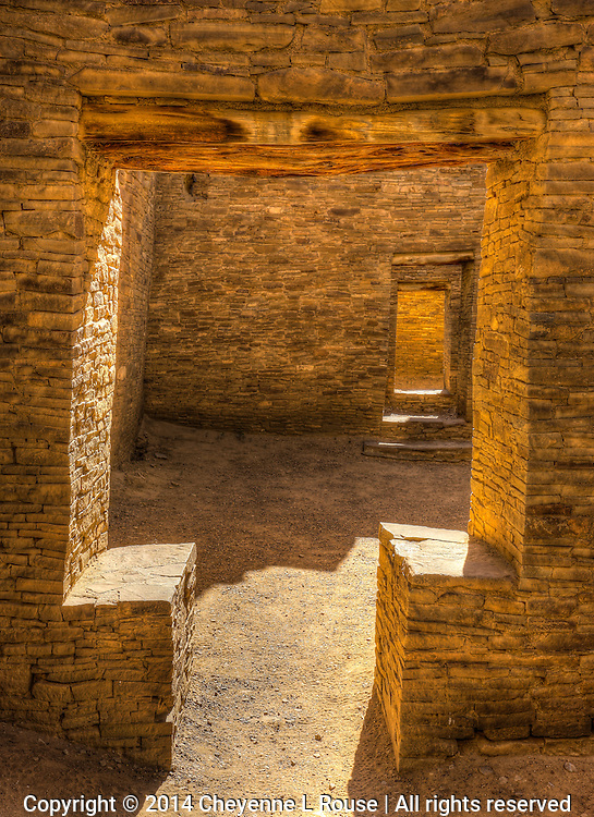 "Chaco ""T"" Doorway - New Mexico - Chaco Canyon National Historic Park"
