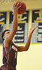Malik Edmead #1 of Deer Park drives to the net during a non-league varsity boys basketball game against South Side in the Richard Brown Nassau-Suffolk Challenge at Uniondale High School on Saturday, Jan. 13, 2018.