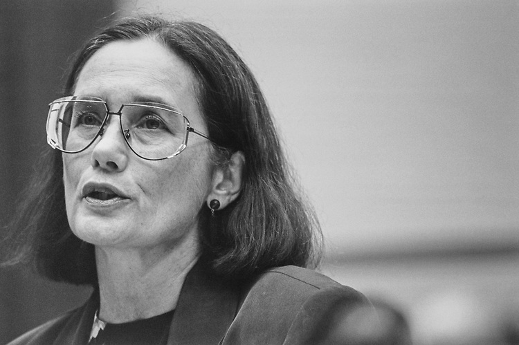 Dr. Martha Riche of US Census Bureau testifying before Government Oversight and Reform Commission on June 6, 1996. (Photo by Laura Patterson/CQ Roll Call via Getty Images)