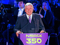 Ansprache von Hessens Ministerpräsident Volker Bouffier (CDU) - 03.05.2018: Festakt zu 350 Jahre Merck in Darmstadt mit Bundeskanzlerin Angela Merkel