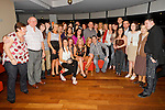Lara Jolley and Stephen Carter in Bru, for their going away party, before the depart for Melbourne together, pictured with their family and friends..Picture: Shane Maguire / www.newsfile.ie