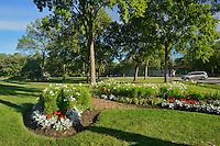 Flower gardens at St. Vital Park<br /> Winnipeg<br /> Manitoba<br /> Canada
