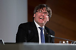 President of Catalonia, Carles Puigdemont attends to conference at Madrid Town Hall, May 22, 2017. Spain.<br /> (ALTERPHOTOS/BorjaB.Hojas)