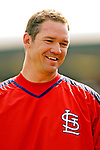 14 March 2007: St. Louis Cardinals infielder Scott Rolen waits to take batting practice prior to facing the Washington Nationals at Roger Dean Stadium in Jupiter, Florida...Mandatory Photo Credit: Ed Wolfstein Photo