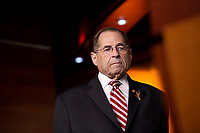 House Judiciary Committee Chairman Jerrold Nadler (Democrat of New York) attends a press conference on Capitol Hill in Washington D.C., U.S. on June 11, 2019.  The press conference followed a House vote, where lawmakers passed a bill which allows the House Judiciary Committee to call on Federal judges to enforce Congressional subpoenas. Photo Credit: Stefani Reynolds/CNP/AdMedia