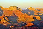 Sunset on the Grand Canyon near Mather Point and Yavapai Point.