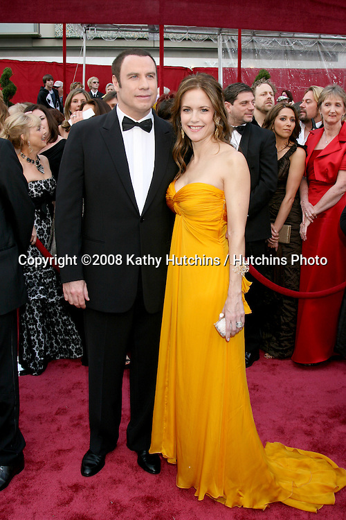 John Travolta & Kelly Preston.80th Academy Awards ( Oscars).Kodak Theater.Los Angeles, CA.February 24, 2008.©2008 Kathy Hutchins / Hutchins Photo.