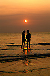 Florida: St. Petersburg, Couple on beach, model released, sunset.  Photo: flcent103.Photo copyright Lee Foster, 510/549-2202, lee@fostertravel.com, www.fostertravel.com