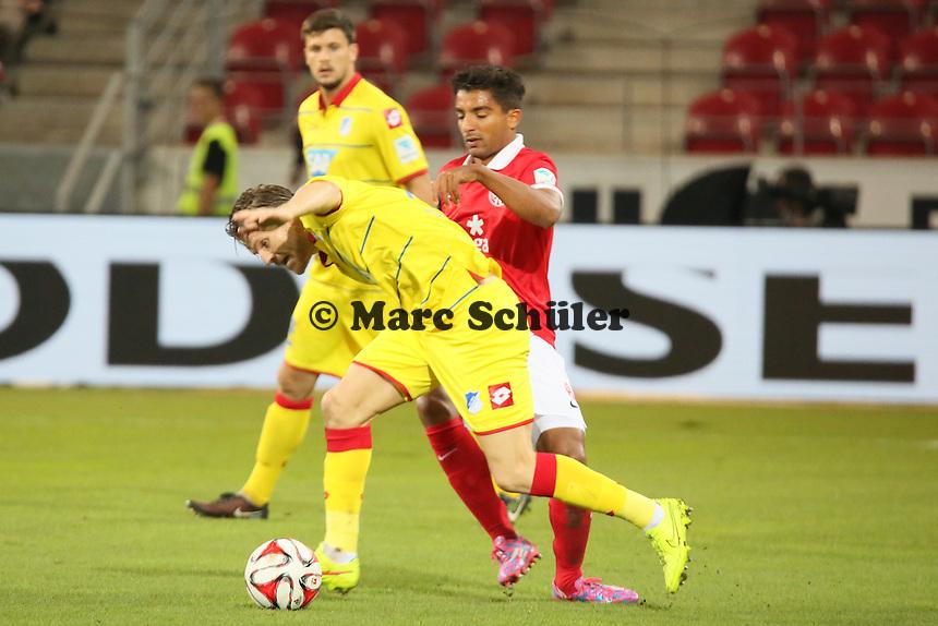 Eugen Polanski (Hoffenheim) gegen Sami Allagui (Mainz) - 1. FSV Mainz 05 vs. TSG 1899 Hoffenheim, Coface Arena