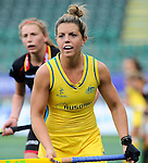 The Hague, Netherlands, June 05: Kellie White #16 of Australia during the field hockey group match (Women - Group A) between Belgium and Australia on June 5, 2014 during the World Cup 2014 at Kyocera Stadium in The Hague, Netherlands. Final score 2:3 (1:1) (Photo by Dirk Markgraf / www.265-images.com) *** Local caption ***