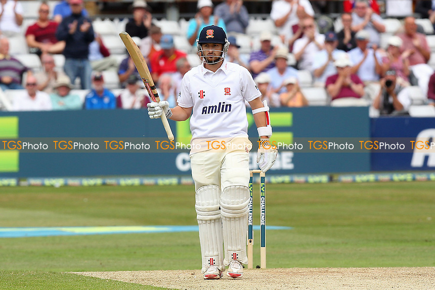 Jaik Mickleburgh celebrates 50 runs, a half-century for Essex - Essex CCC vs England - LV Challenge Match at the Essex County Ground, Chelmsford - 01/07/13 - MANDATORY CREDIT: Gavin Ellis/TGSPHOTO - Self billing applies where appropriate - 0845 094 6026 - contact@tgsphoto.co.uk - NO UNPAID USE