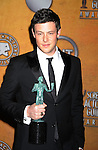 LOS ANGELES, CA. - January 23: Cory Monteith poses in the press room at the 16th Annual Screen Actors Guild Awards held at The Shrine Auditorium on January 23, 2010 in Los Angeles, California.