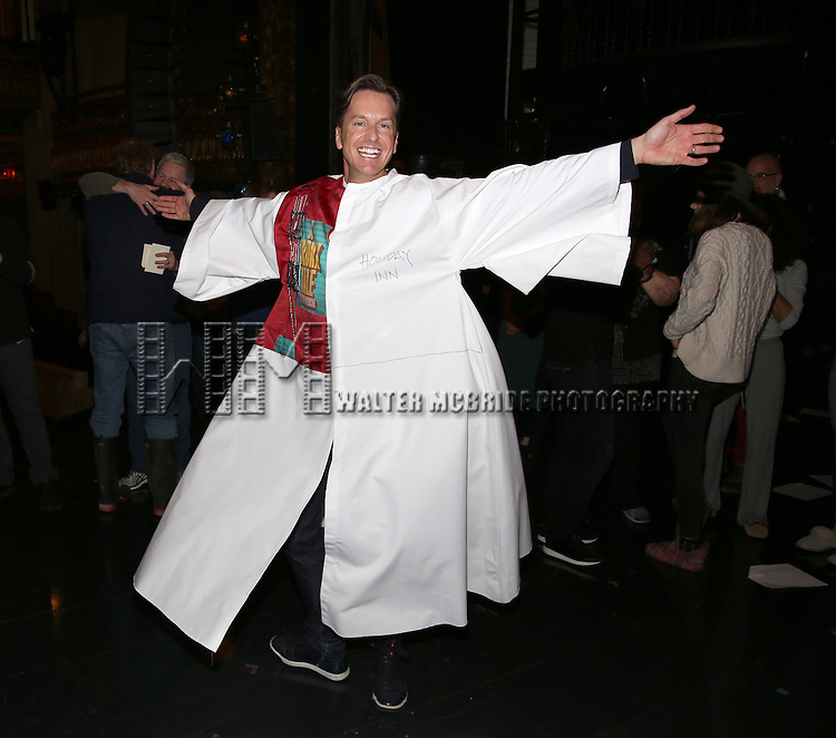 attend the Actors' Equity Opening Night Gypsy Robe Ceremony for 'Sunset Boulevard'  honoring Matt Wall at the Palace Theatre Theatre on February 9, 2017 in New York City.