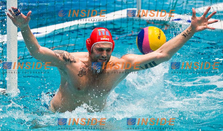 Eindhoven , Netherlands (NED) 25/1/2012.LEN European  Water Polo Championships 2012.Day 10 - Men.Italia  (White) - Germany  (Blue)..ITA.1 PASTORINO.Giacomo..Photo Insidefoto / Giorgio Scala