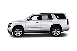 Car driver side profile view of a 2019 Chevrolet Tahoe LS 5 Door SUV
