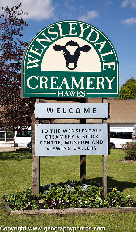 Wensleydale Creamery cheese factory visitor centre, Hawes, Yorkshire Dales national park, England, UK