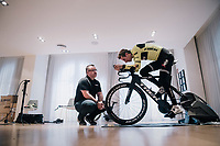 Bike-fit session for Bauke Mollema (NED/Trek-Segafredo) <br /> <br /> Team Trek-Segafredo men's team<br /> training camp<br /> Mallorca, january 2019<br /> <br /> &copy;kramon