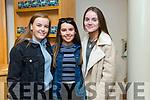 Ailis Ryan, Jesse Tierney, and Niamh McMahon enjoying the Light Opera Society of Tralee production of Evita at Siamsa Tire on Thursday
