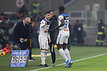 Duvan Zapata of Atalanta is substituted for Ruslan Malinovskyi during the Serie A match at Giuseppe Meazza, Milan. Picture date: 11th January 2020. Picture credit should read: Jonathan Moscrop/Sportimage