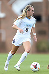 06 October 2013: North Carolina's Summer Green. The University of North Carolina Tar Heels hosted the University of Maryland Terrapins at Fetzer Field in Chapel Hill, NC in a 2013 NCAA Division I Women's Soccer match. UNC won the game 3-1.