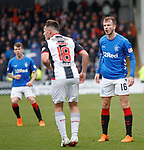 03.11.2018: St Mirren v Rangers: Andy Halliday and Danny Mullen have a difference of opinion