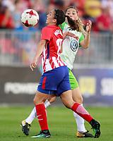 Atletico de Madrid's Silvia Meseguer (l) and VfL Wolfsburg's Sara Bjork Gunnarsdottir during UEFA Womens Champions League 2017/2018, 1/16 Final, 1st match. October 4,2017. (ALTERPHOTOS/Acero) /NortePhoto.com /NortePhoto.com