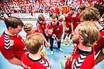 Eskilstuna 2014-05-12 Handboll SM-semifinal 3 Eskilstuna Guif - Alings&aring;s HK :  <br /> Eskilstuna Guif tr&auml;nare Kristjan Andreasson  under en timeout med Eskilstuna Guif spelare<br /> (Foto: Kenta J&ouml;nsson) Nyckelord:  Eskilstuna Guif Sporthallen Alings&aring;s AHK SM Semifinal Semi tr&auml;nare manager coach