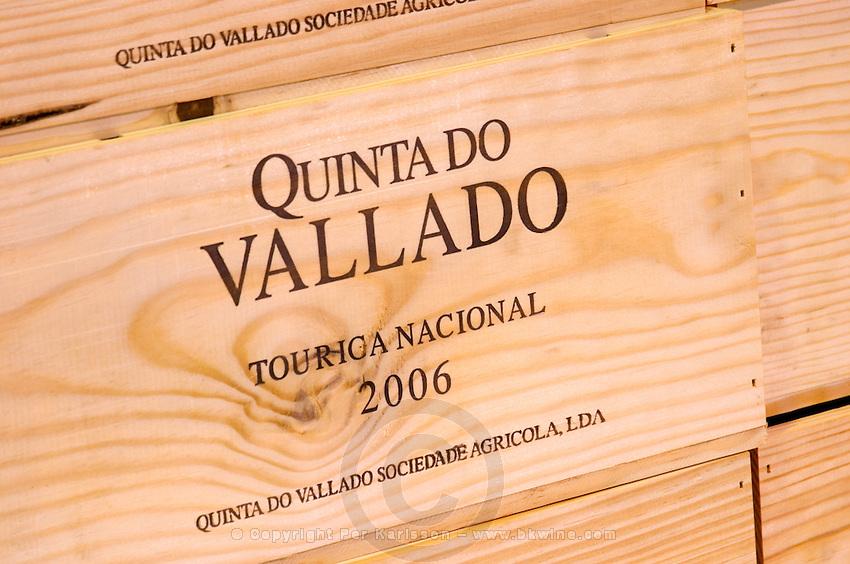 touriga nacional wooden cases quinta do vallado douro portugal
