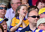 A Clare fan celebrates Peter Duggan's goal during their All-Ireland semi-final replay against Galway at Semple Stadium, Thurles. Photograph by John Kelly.
