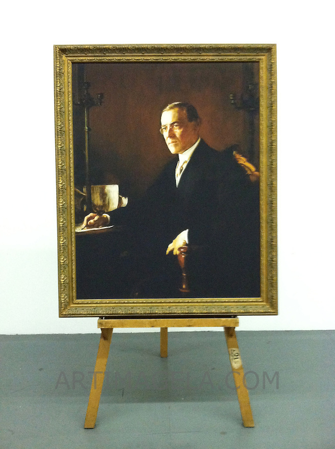 Digital Reproduction of Thomas Woodrow Wilson (1856-1924), 28th US President. 1921.  This is a Digital Reproduction in LA, CA Framed Size: 52 1/4&quot; x 42 1/2&quot; Stretcher Size 46&quot; x 36 1/4&quot;  <br />