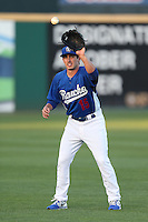 Rob Garvey #15 of the Rancho Cucamonga Quakes during a game against the Lake Elsinore Storm at LoanMart Field on April 14, 2014 in Rancho Cucamonga, California. Lake Elsinore defeated Rancho Cucamonga, 5-0. (Larry Goren/Four Seam Images)