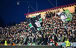 S&ouml;dert&auml;lje 2014-04-07 Fotboll Superettan Assyriska FF - Hammarby IF :  <br /> Hammarby supportrar med en flagga p&aring; S&ouml;dert&auml;lje Fotbollsarena<br /> (Foto: Kenta J&ouml;nsson) Nyckelord:  Assyriska AFF S&ouml;dert&auml;lje Hammarby HIF Bajen supporter fans publik supporters