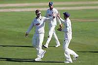 Simon Harmer of Essex celebrates taking the wicket of Zak Chappell during Essex CCC vs Nottinghamshire CCC, Specsavers County Championship Division 1 Cricket at The Cloudfm County Ground on 14th May 2019
