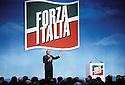 Silvio Berlusconi, Presiden of Forza Italia political party, speaks at Forza Italia Convention in Assago, Milan, March 13, 1994. © Carlo Cerchioli