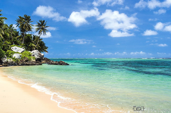 """Start of the Lavena Coastal walk on Taveuni, Fiji.  This beach is said to be the location for the film """"Return to the Blue Lagoon"""""""