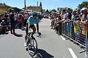 21st May 2017, Bergamo, Milan, Lombardy, Italy; Giro D Italia; stage 15 Valdengo to Bergamo; Astana; Tiralongo, Paolo in Valdengo;