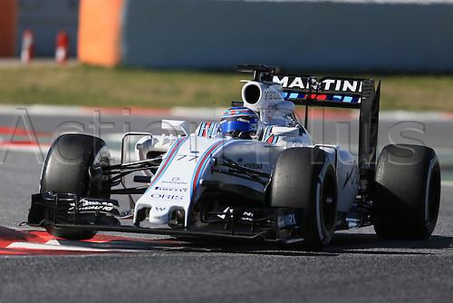 01.03.2016. Barcelona, Spain.  Formula 1 winter car testing at Circuit de Barcelona Catalunya Test 2 Day 1.  Williams Martini Racing, Williams Mercedes FW38 – Valtteri Bottas