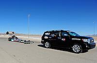 Oct. 30, 2011; Las Vegas, NV, USA: NHRA top fuel dragster driver Antron Brown during the Big O Tires Nationals at The Strip at Las Vegas Motor Speedway. Mandatory Credit: Mark J. Rebilas-