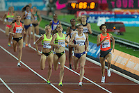 Laura WEIGHTMAN of GBR wins the 1500m in a time of 4.06.09 during the Sainsburys Anniversary Games at the Olympic Park, London, England on 24 July 2015. Photo by Andy Rowland.