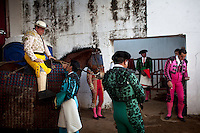 Dec. 19, 2011 - Aguazul, Colombia. Waiting for the bull fight to start. © Nicolas Axelrod / Ruom