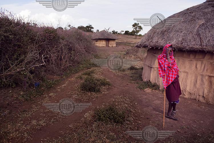 Maasai man in a village near Arusha.
