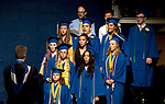 WINSTED, CT-062317JS15- Graduating members of the Gilbert Vocal Ensemble, under the direction of Adam P. Atkins, sing &quot;It's so Hard to Say Goodbye to Yesterday&quot; during graduation ceremonies Friday at the Gilbert School in Winsted. <br /> Jim Shannon Republican-American